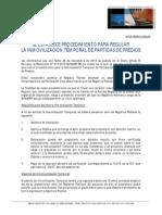 Procedimiento Para Inmovilización Temporal de Partidas en El Registro de Predios