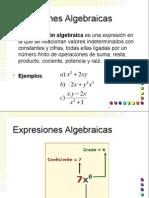 3.2 Expresiones Algebraicas