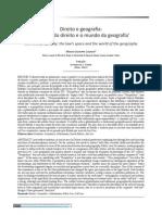 Mario Losano - Direito e Geografia o Espaco Do Direito e o Mundo Da Geografia - Trad. a. Flores - Rev. Direito Justica v. 40 - 2014