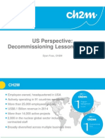 U.S. Perspective - Decommissioning Lessons Learned