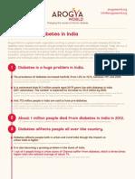 ArogyaWorld IndiaDiabetes FactSheets CGI2013 Web