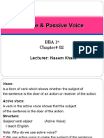 2nd Chapter Active and Passive Voice