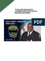Report on Daryl Gordon's death