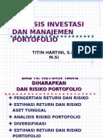 Analisis Investasi dan manajemen Portofolio manajemen keua