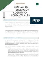 Guía Técnicas de Intervención Cognitivo-conductuales 2015/2016
