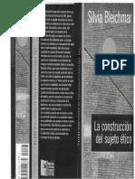 Bleichmar, Silvia. Premisas de La Construcción de La Ética en El Sujeto - Acerca de La Crueldad