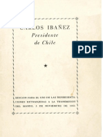 Carlos Ibañez, Presidente de Chile