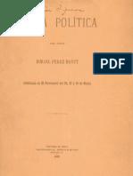 Carta Política del señor Ismael Perez Montt