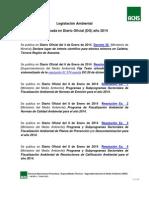 Legislación Ambiental Año 2014 en DO