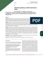 Splicing Rheumatoid Arthritis