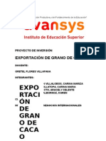 Proyecto de Exportacion Cacao