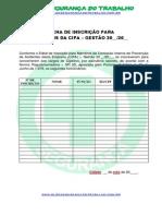 Modelo - Ficha de Inscrição - CIPA - Blog Segurança Do Trabalho