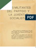 A Los Militantes Del Partido y La Juventud Socialist