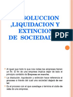 Disolucion y Liquidacion
