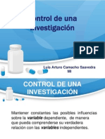 Control de una Investigacion