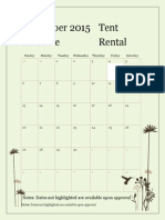 Tent Rental Calendar PDF