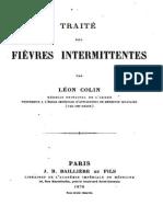 Traite Des Fievres Intermittentes - Leon Colin