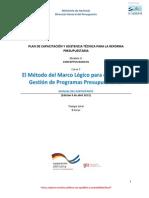 8. Curso 7 El Metodo Del Marco Logico Para El Diseño y Gestion de Programas Presupuestarios