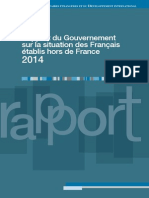 Rapport du gouvernement sur la situation des Français établis hors de France (2014)