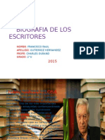 Biografia de Los BIOGRAFIA DE LOS ESCRITORESscritores