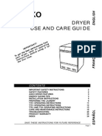 Asko Dryer Instructions