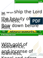 1 o Worship the Lord