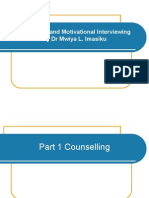 Counseling and Motivational Interviewing