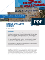 Making Africa Less Corrupt