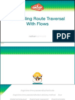 Controlling Route Traversal