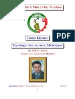 support Topologie Des Espaces-métriques 2010