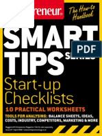 Entrepreneur SmartTips Guide Start Up Checklists Practical Worksheets