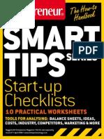 Entrepreneur SmartTips Guide Start Up Checklists Practical Worksheets