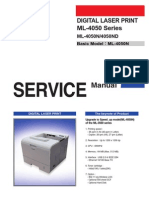 Samsung ML 4050 Service Manual