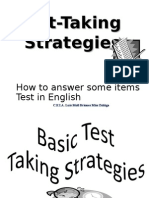 Test Taking Strategies for English