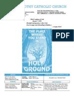 St. Timothy L.A. Mar. 7th 2010 Bulletin.