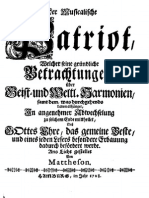 Mattheson - Der Musicalische Patriot