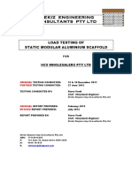 Load Testing of Static Modular Aluminium Scaffold