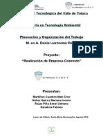 Proyecto Empresa ingenieria economica
