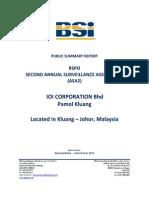 ASA2 IOI Pamol Kluang RSPO Public Summarffhhy Report June 2012