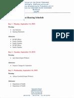Nunavut Coroner's Suicide Inquest Schedule