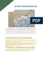 Beneficios Del Bicarbonato de Sodio
