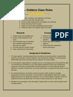 Class Rules & Procedures Tan