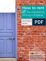 The Checklist of Renting in England 2015