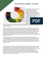 Dietas Para Perder Peso De Manera Saludable ~ Solo Tips