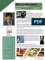 La Voz de OLA Newsletter August 2015
