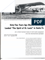 Lindbergh Visit To Santa Fe NM Sept. 1927 THE SANTA FEAN MAGAZINE Vol. 17, No. 8 September 1989