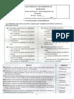 Teste Diagnóstico (8º Ano) Final