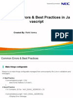 JavaScript Common Mis JavaScript Common Mistakes & Best Practicestakes & Best Practices