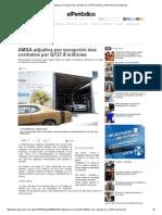 AMSA Adjudica Por Excepción Dos Contratos Por Q137 19 Febreo 2015