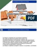 Creando Etapas o Capitulos de Obras en Efactory Administracion de Obras de Construccion en La Nube